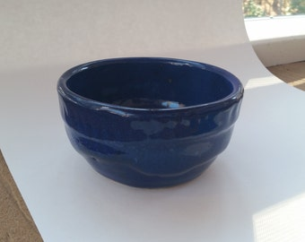 Cobalt Blue Glazed Bowl