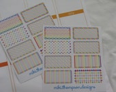 8 or 16 Rainbow Bright Labels for your Planner - MTD0010