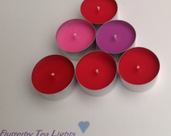 Set of 6 tea lights with scents especially for Valentine's Day
