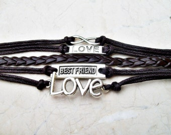 Leather bracelet, Fashion bracelet