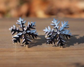 Snowflake Winter Holiday Cufflinks