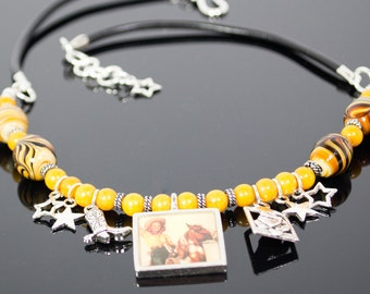 Cowgirl Necklace with horses and boots