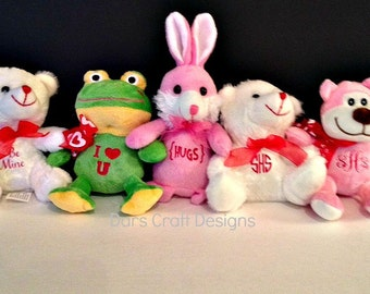 EASTER.. Monogramed Stuffed Bunnies & Others