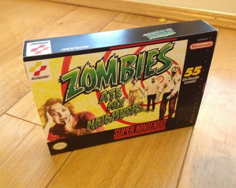 SNES Zombies ate my Neighbours - Repro Box and Insert NO Game Included