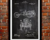 Early Automobile 1911 - Automotive Decor - Patent Print Poster Wall Decor - 0033