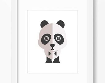 Panda Print, Panda Art, Nursery Art, Nursery Print, Nursery Panda Print, Nursery Panda Art, Kids Panda Art, Kids Panda Print, Children Panda