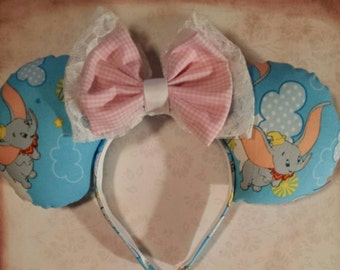 Made to Order:  Dumbo Ears headband, soft puffy fiber filled ears