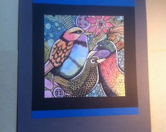 Abstract Birds an Original Painting
