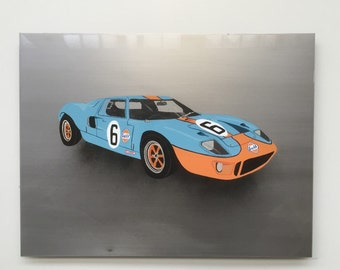 Ford GT40 painting on steel - Automotive