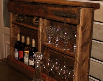 Wine and wine glass Rack/Dresser