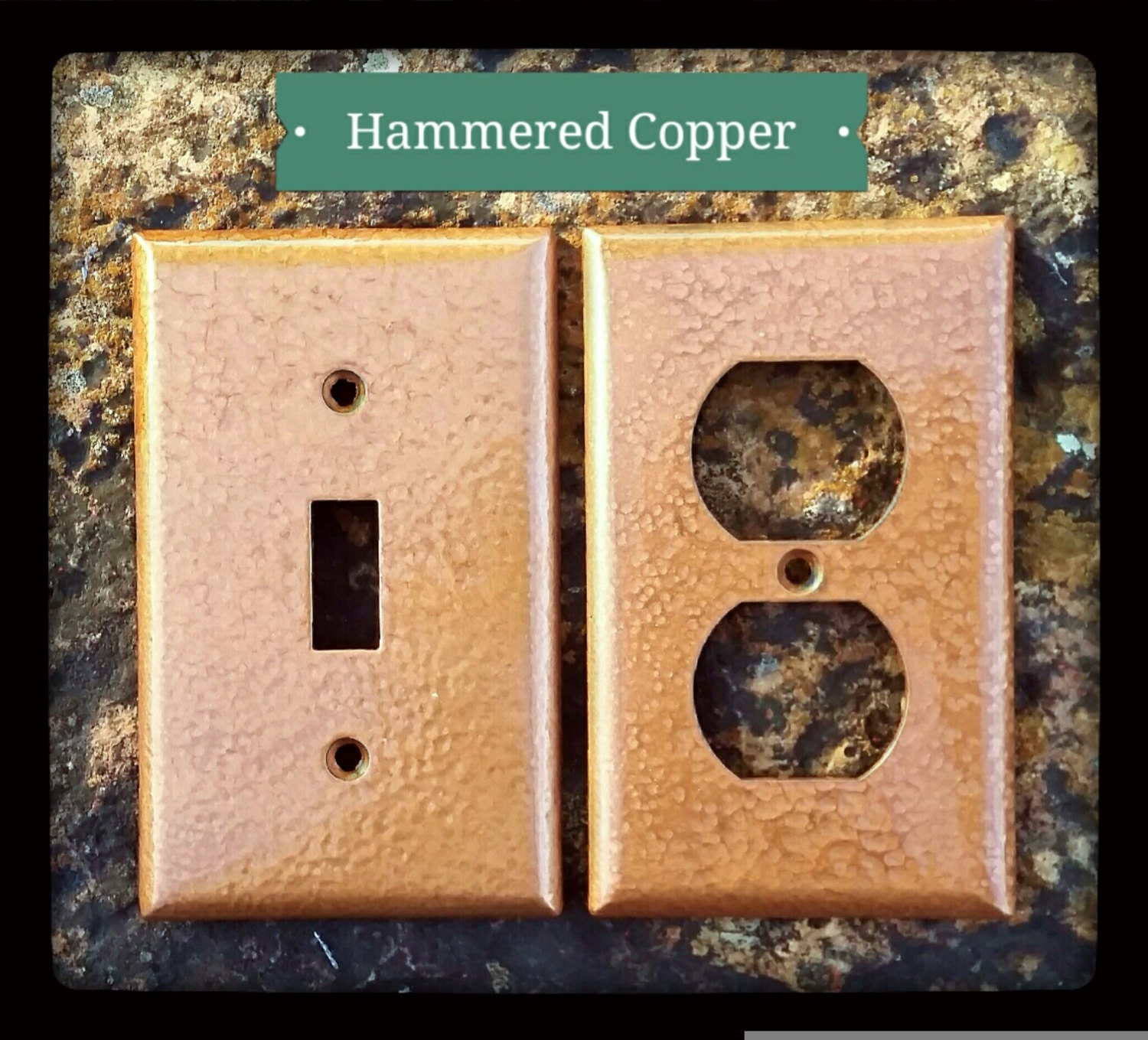 Hammered Copper Wall Plates Switch Outlet by TheBarkingGoose