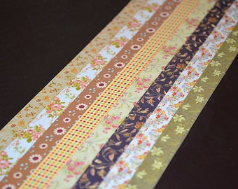 Origami Lucky Star Paper Strips Lovely Floral and Checks Mixed Print DIY - Pack of 160 Strips