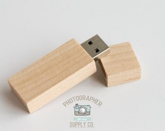 Wood/Wooden USB Flash Drive 64GB Capacity with Magnet Top