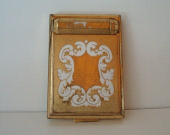 Richard Hudnut gold tone and enamel compact