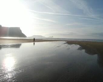 Pondering, Rhossili Beach, Swansea, Wales