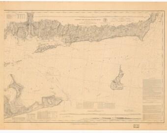 Montauk to Block Island Map 1878