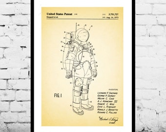 Space, Space Suit Poster, Space Suit Patent, Space Suit Print, Space Suit Decor, Space Suit Art, Space Suit Blueprint, Space Suit Wall Art
