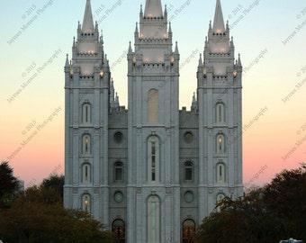 16 x 20 Sunrise over the Salt Lake Temple