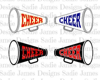 Cheer Megaphone SVG and Silhouette Studio cutting file Instant Download