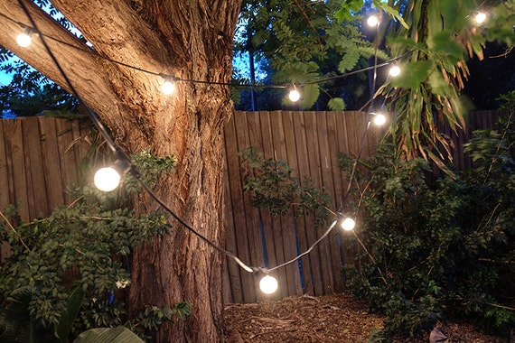 Outdoor String Lights Etsy : Items similar to Outdoor string lights for wedding, party, patio, indoor. Vintage style, 24 ...