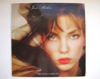 """JANE BIRKIN  Album, GAINSBOURG-written """"Baby Alone In Babylone"""", French Pressing 1983 / 33 rpm Vinyl lp"""