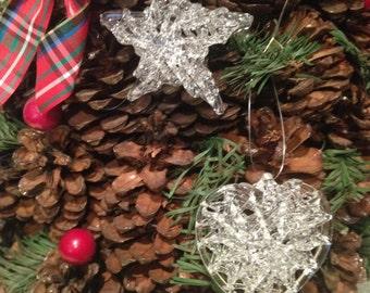 Christmas hand spun glass ornaments