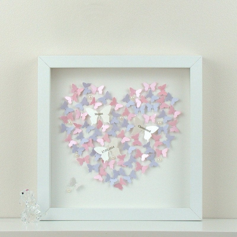 Personalised wall art with 3d paper butterflies beautiful 3d for Paper art butterfly