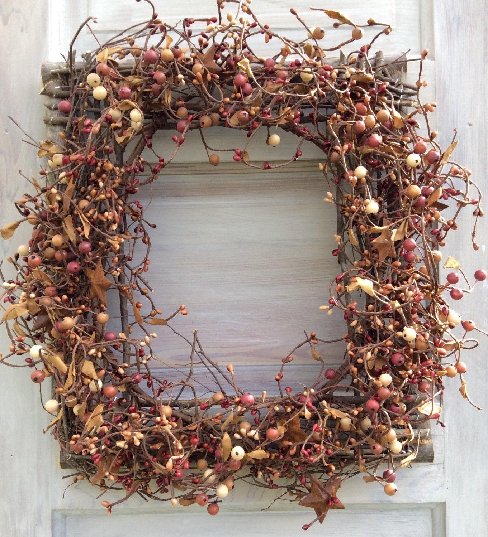 Pip Berry Wreath Fall Wreath Primitive Wreath Picture