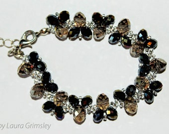 Rondelle beaded bracelet