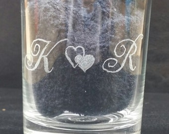 hand engraved personalised shot glasses