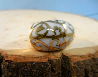 Gold-Fused White Ring