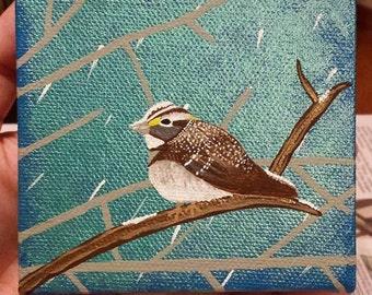 Sparrow in Winter.