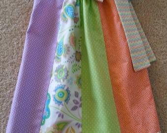 Pillowcase Dress - Chevron Sherbert Orange