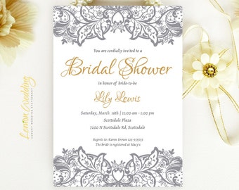 lace wedding bridal shower invitations printed on luxury pearlescent paper cheap bridal shower cards - Cheap Wedding Shower Invitations