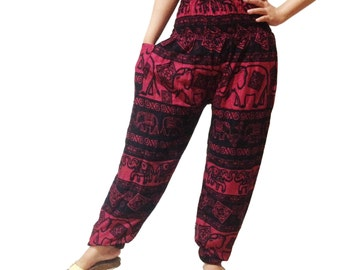 Elephant Strips Comfy Yoga Pants Wide Leg Pants  (YG01-21)
