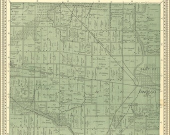 24x36 Poster; Map Of Owosso Michigan 1895
