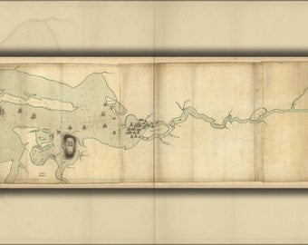 24x36 Poster; Map Of Penobscot River And Bay Maine 1779