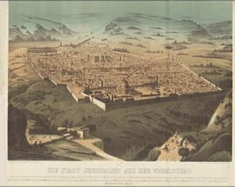 24x36 Poster; Jerusalem Israel 1868
