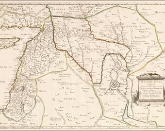 24x36 Poster; Map Of Israel Mesopotamia Babylon 1651