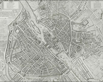 24x36 Poster; Map Of Paris France 1609