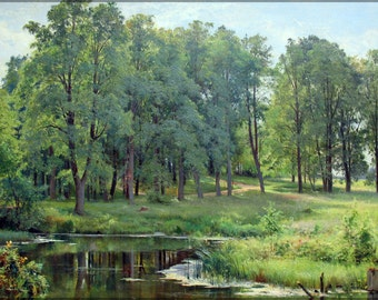 24x36 Poster; In The Park By Ivan Shishkin