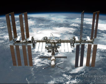 24x36 Poster; International Space Station P3