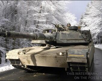 24x36 Poster; M1A1 Abrams P1