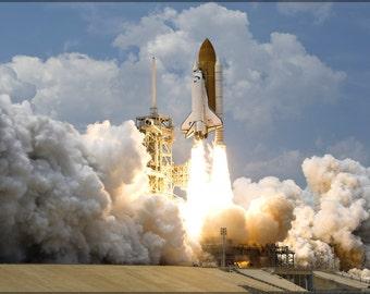 24x36 Poster; Space Shuttle Atlantis Lift Off
