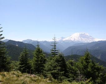 Mount Rainier photograph or canvas print, 5x7, 8x10, 11x14, 16x20, View from Sun Top Mountain, WA