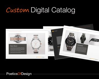 Custom Digital Catalog, 20 pages. Graphic Design, e-catalogue, Digital Brochure