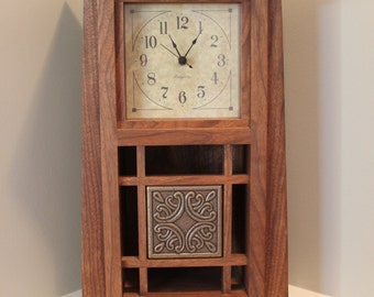 Items similar to arts and crafts style mantle clock for Arts and crafts mantle clock