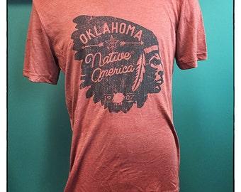 Oklahoma Native America Vintage Tee