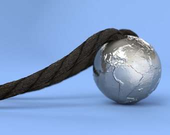 Earth Without Water - Pendant in Metal (20mm)