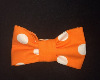 QuoTies Orange with white Polka